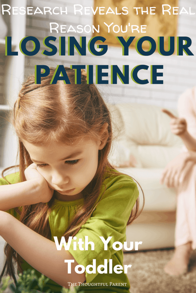 lost patience with toddler