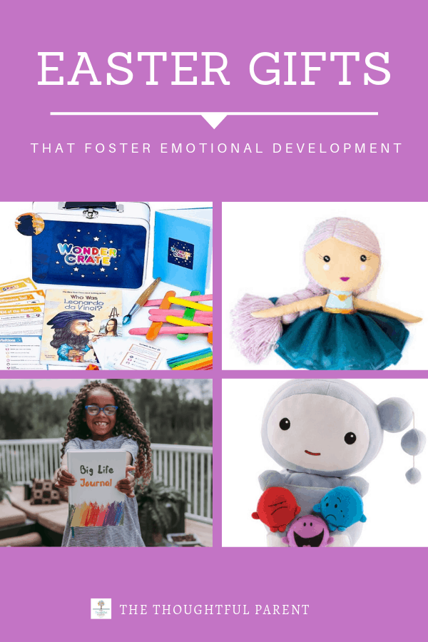 Toys can be fun and teach important social and emotional lessons. Check out these toys for emotional development and help your child grow in kindness each time they play. #kindnessmatters #easter #gifts #sel #thoughtfulparent