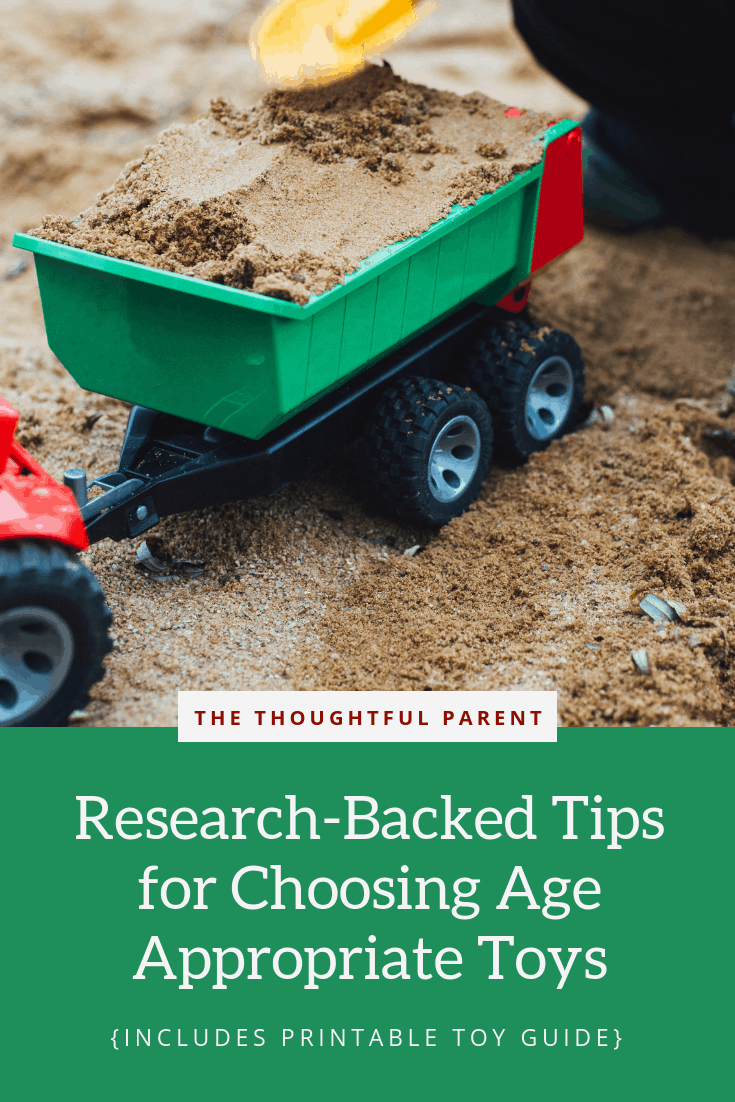 Ever wonder how to choose age appropriate toys for your kids? Use these child development tips to choose toys your kids will love for MORE than a week.