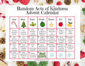 Random Acts of Kindness Calendar
